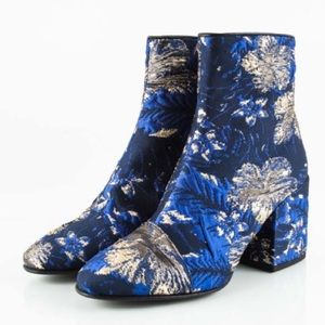 DRIES VAN NOTEN Floral Jacquard Ankle Booties